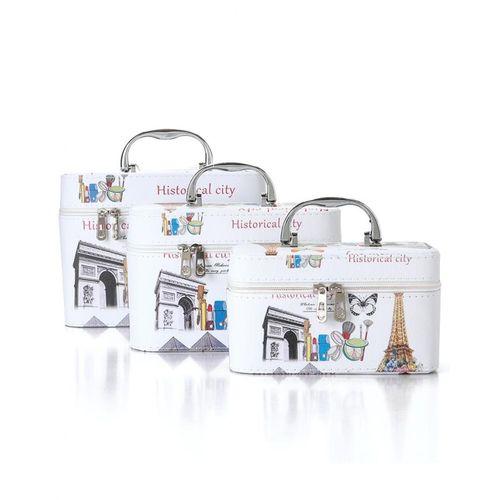55c8310505c9c حقيبة تخزين مكياج للسفر مطبوعة 3 قطعة - Jumia مصر
