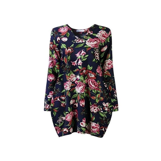 a388ea75b2 ... ZANZEA 2017 Trendy Autumn Linen Dress Women Vintage Flower Dress V Neck  Long Sleeve Casual Cute ...