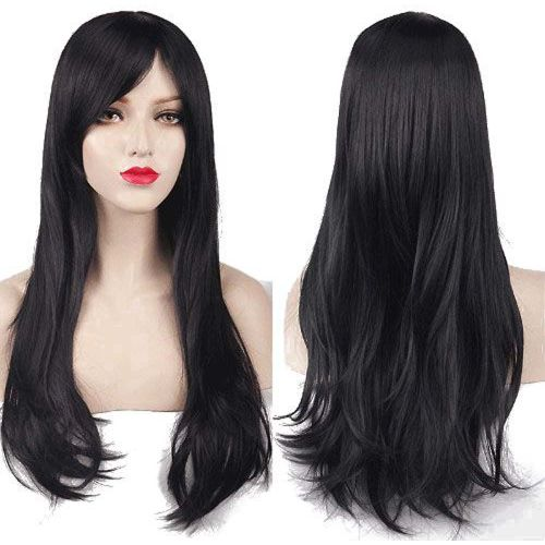 Sale on Charming Women S Long Curly Full Hair Wig - Black  0a8620ddef