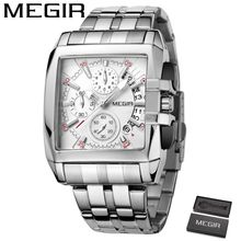 33df0f060 MEGIR Top Luxury Brand Watch Famous Fashion Sports Cool Men Quartz Watches  Waterproof Stainless Steel Wristwatch For Male