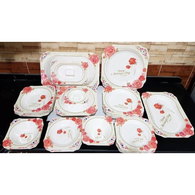 Floral Serving Plates Set – 38 Pcs –  مصر