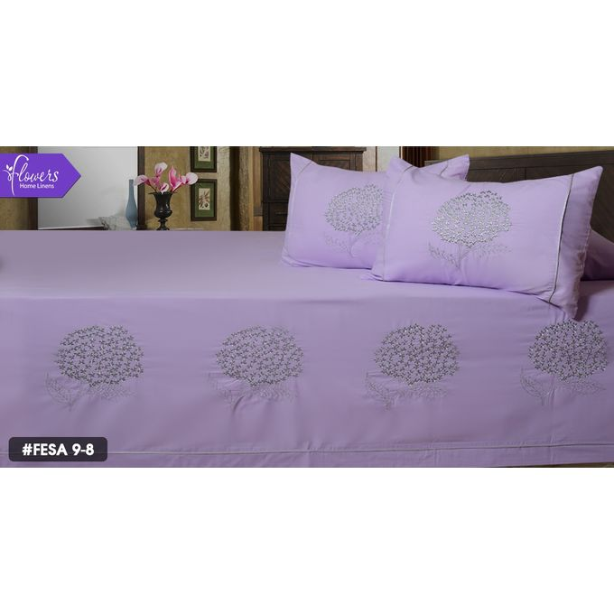 Bed Linen Set – 5 Pcs – Purpul –  مصر