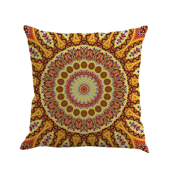 Bohemian Style Beautiful  Peacock Cotton Linen Square Pillow Cases Sofa Car Throw Pillow Cushion Cover(45*45cm) –  مصر