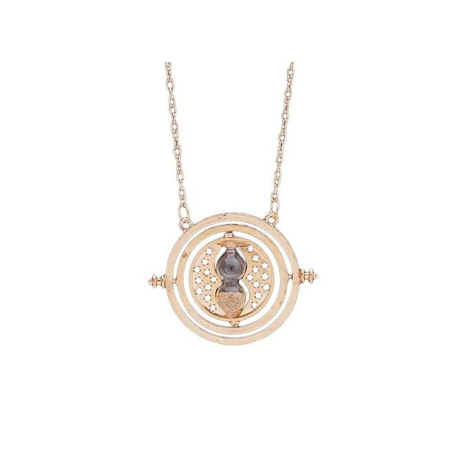 Jewelry & Watches Fashion Necklaces & Pendants Harry Potter Hermione Granger Rotating Time Turner Necklace Gold Hourglass