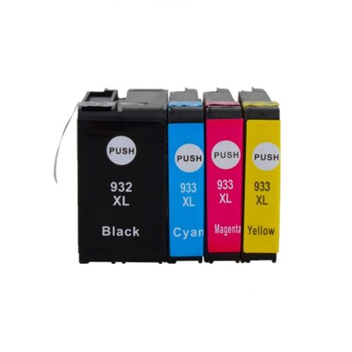 generic hp 932xl black 933xl cyan magenta yellow ink cartridges buy online jumia egypt. Black Bedroom Furniture Sets. Home Design Ideas