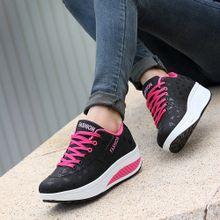 417af1e81e6af Blicool Shoes Women Casual Sport Fashion Walking Flats Height Increasing  Swing Wedges Shoe Black