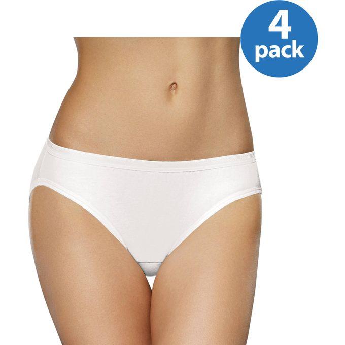 Fruit of the Loom Womens Breathable Micro-Mesh Bikini, 4 Pack