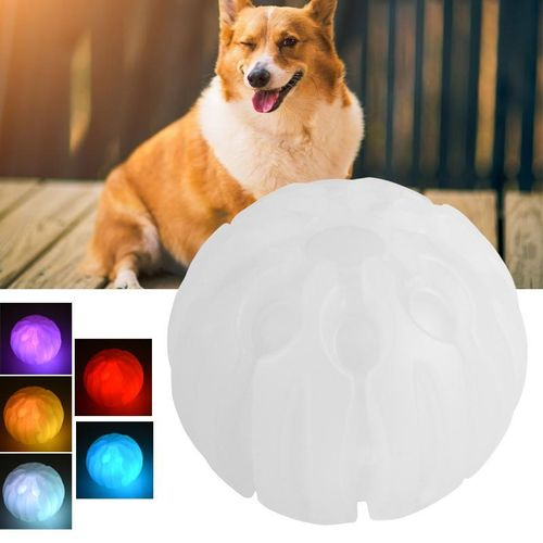 Pet Toys LED Colorful Luminous Bite Resistance Ball Puppy Supplies Funny Training Tool