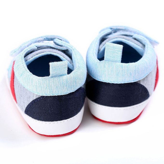d81ad506dbed Baby Shoes Boy Girl Newborn Crib Soft Sole Shoe Sneakers LB 1-Light Blue