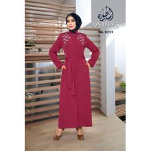 76060adc09cc1 Women  039 s Hijab Abaya - Burgundy