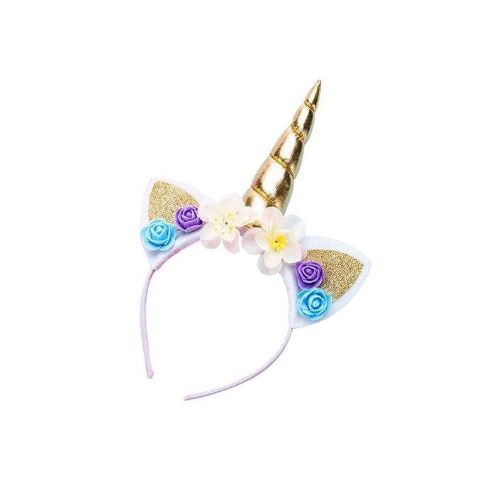 Girls Dream Cat Ear Flower Cartoon Horse Party Hair Hoop Birthday Party  Kids Hairbands Kawaii Headband Headwear Hair Accessories