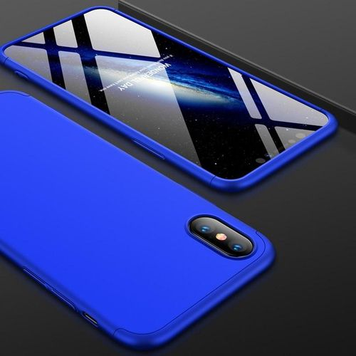 054fc8528c9 Generic Case For IPhone XS Max Case 360 Degree Full Protection Hard PC 3 In 1  Matte For IPhone XSMax Cover Fundas Coque (Blue)
