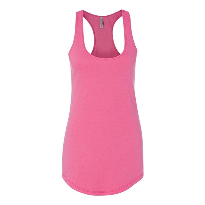 Next Level Apparel Womens Terry Racerback Tank [Neon Heather Pink, X-Large]