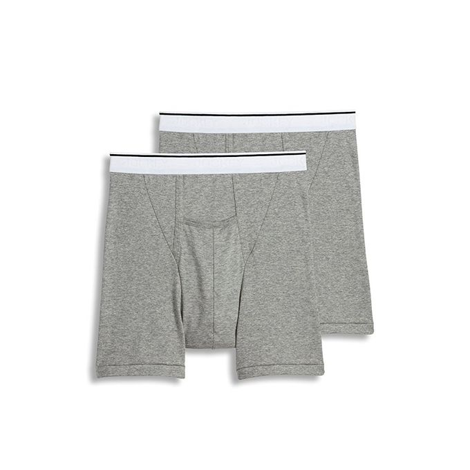 Jockey Mens Underwear Pouch Boxer Brief - 2 Pack [Grey Heather, XX-Large]