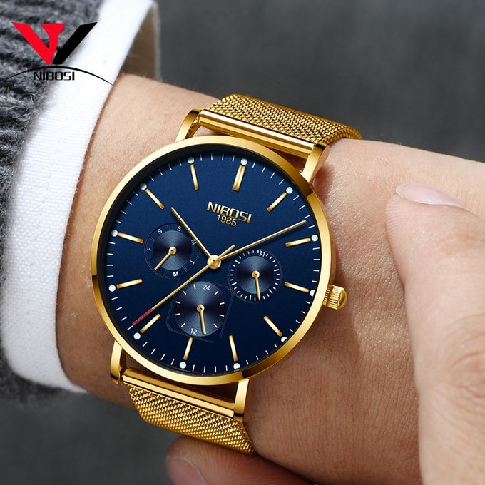 a5316ca134c Sale on NIBOSI Mens Watches Quartz Watch Clock Relogio Masculino ...