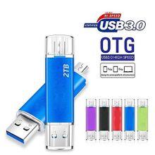 New OTG USB 3.0 Flash Drives Metal USB Flash Drives 2TB Pen Drive Pendrive Flash Memory