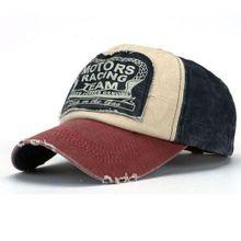 1249f2eca3f73 New Unisex Baseball Cap Cotton Motorcycle Cap Edge Grinding Do Old Hat