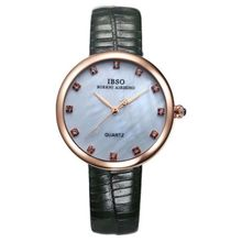 df7956df4 IBSO-3859L-Black G Genuine Leather Women Dress Watch