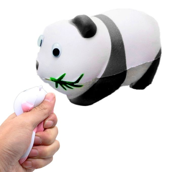 Simulation Panda Shape Squishy Slow Rising Toy Slow Rebound PU Stress Reliever Squeeze Toy(Black) –  مصر