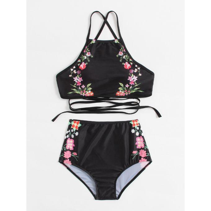 1dc4db8890 Sale on Calico Print Cross Back High Waist Bikini Set   Jumia Egypt