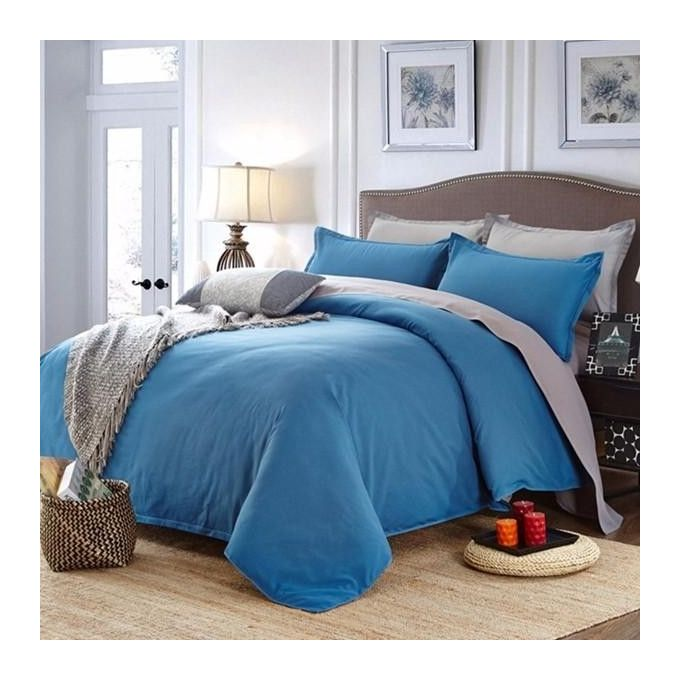 Honana WX-8368 4Pcs Solid Color Bedding Set Duvet Cover Sets Bed Linen Include Bed Sheet Pillowcase –  مصر
