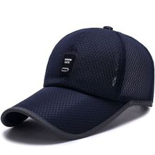 96f1f0f11b3 MADE Men Baseball Cap Polyester Fiber Solid Color Mesh Outdoor Sun Shade-navy  Blue