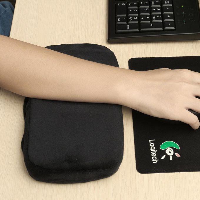 2set 2 Pcs Memory Foam Armrest Cushion Pads Elbow Arm Rest Cover Chair Mats Blue