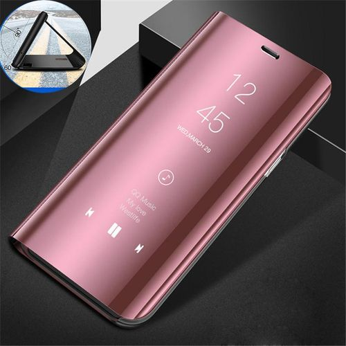 new concept 004f8 2e234 Clear View Mirror Case For Samsung Galaxy S7 Edge / S7Edge Leather Flip  Stand Case Mobile Accessories Phone Cases Cover (Rose Gold)