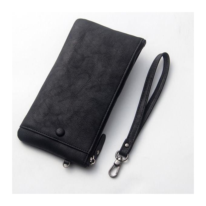 4cb3e640ccb3 Hot Men s Wallet Long Wallet Zipper Leather Light Youth Youth Handbag  Soft-black
