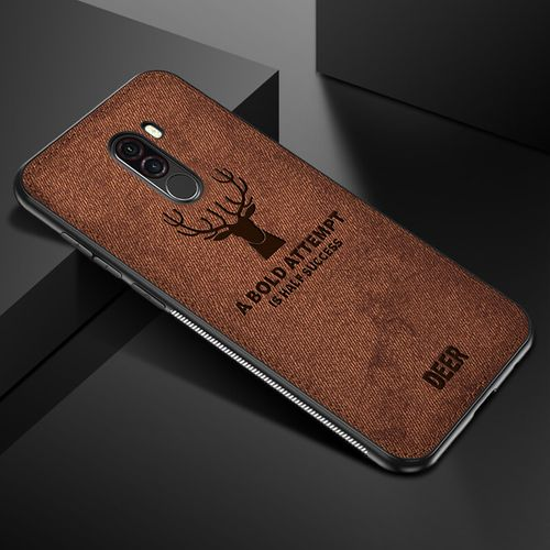 low priced b501e 681c3 For Pocophone F1 Case For Xiaomi Phone Case Fabric Cloth Deer Case For  Xiaomi Cover-Khaki