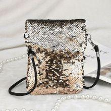 edc1aed4d6452 في الهواء الطلق الصلبة اللون الترتر حقيبة يد حقيبة الكتف حمل السيدات المحفظة