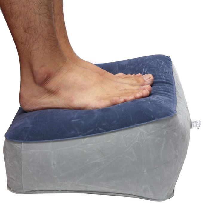 2 PCS Soft Foot Feet Rest Inflatable Pillow Travel Helps Reduce DVT Risk On Flights NEW –  مصر