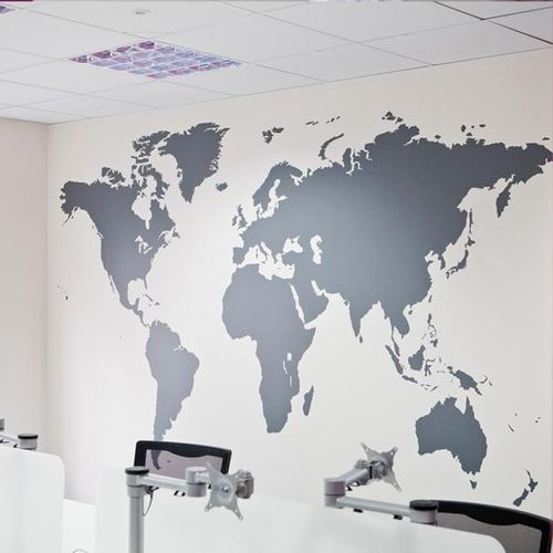 Sale on generic world map removable vinyl wall sticker wallpaper world map removable vinyl wall sticker wallpaper home office art decal black gumiabroncs Choice Image