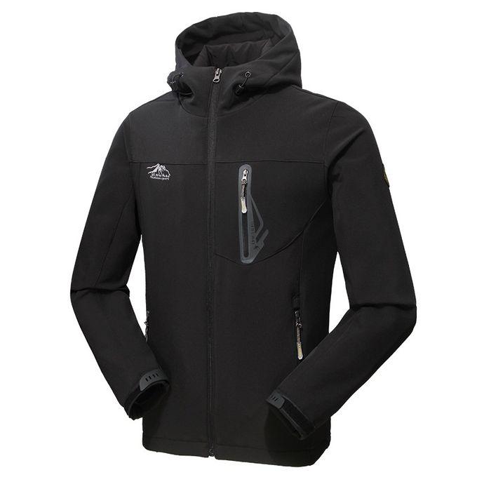 151842bd0 Winter New Men's Jacket Outdoor Sports Solid Windproof Hooded Couple Coat  Waterproof Breathable Riding Leisure Men Mountaineering