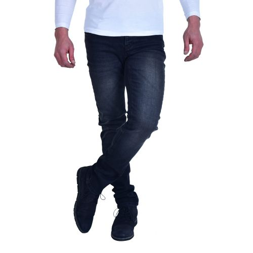 Casual Washed Jeans - Black