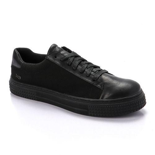 Plain Lace Up Sneakers - Black