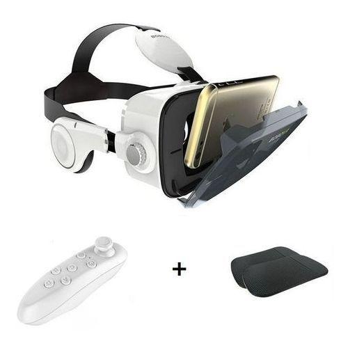 3D VR Glass Box Headset With Headphone + Free Remote & 2 Sticky Magic Anti  Slip Mat