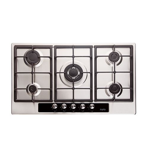 Full Safety Stainless Steel Built In Hob - 5 Burners