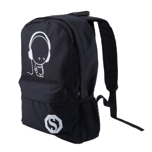 bf9cb95006 Allwin OUTAD Luminous Student School Bag Casual Backpack Men Pack Travel  Rucksack -black