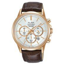 c7551e36b Seiko Alba Modern Classic Chronograph Men s Leather Watch AT3B94X (c056)