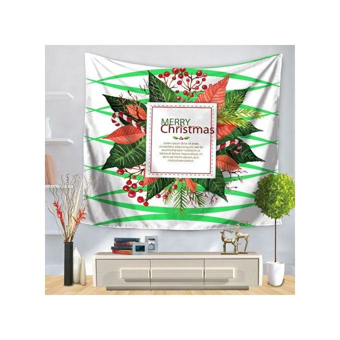 Christmas Party Tapestry Wall Hanging Home Decors Bedspread Shower Curtain -Multicolor –  مصر
