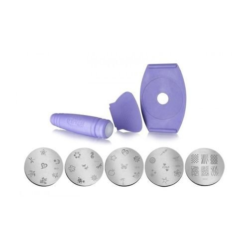 Sale On As Seen On Tv Nail Decoration Art Stamping Kit Purple