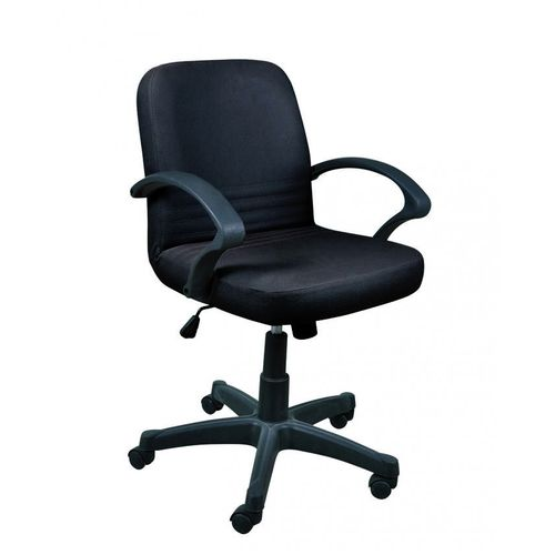 Nova Leather Office Chair - Black