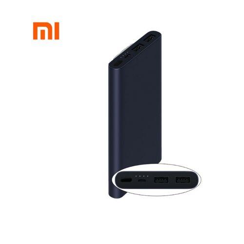 10000mAh Mi 2S Power Bank With 2 USB Port - Black