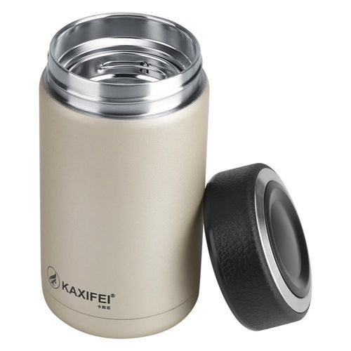 KAXIFEI Stainless Steel Vacuum Thermal Insulated Travel Mug Bottle Flask Coffee Cup Champagne
