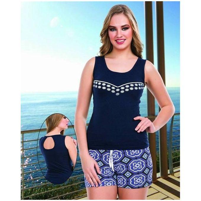 de68b5b1e0f8 Patterned Hot Shorts Pajama - Navy Blue - Jumia مصر