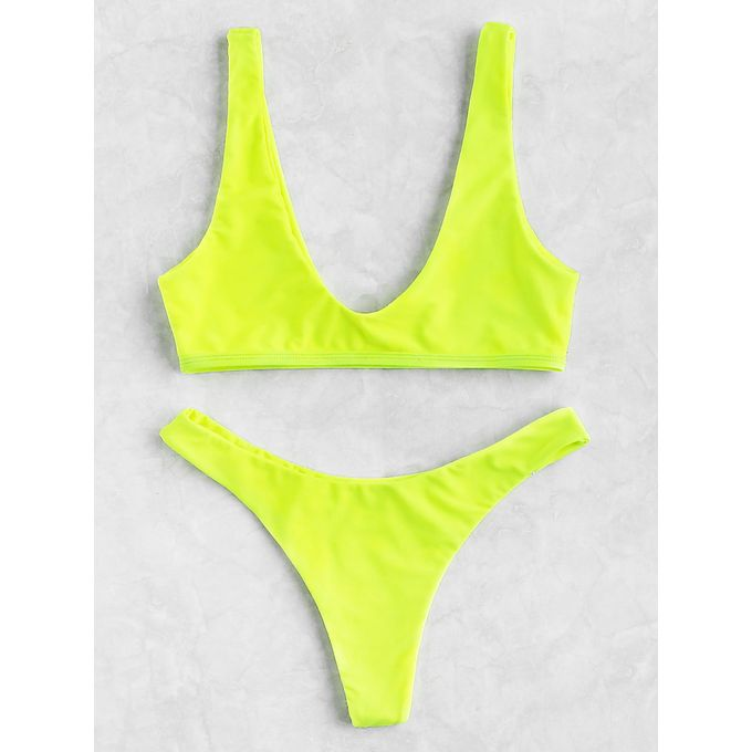 a41f8d8f7d Sale on Neon Plunge Neckline High Leg Bikini Set | Jumia Egypt