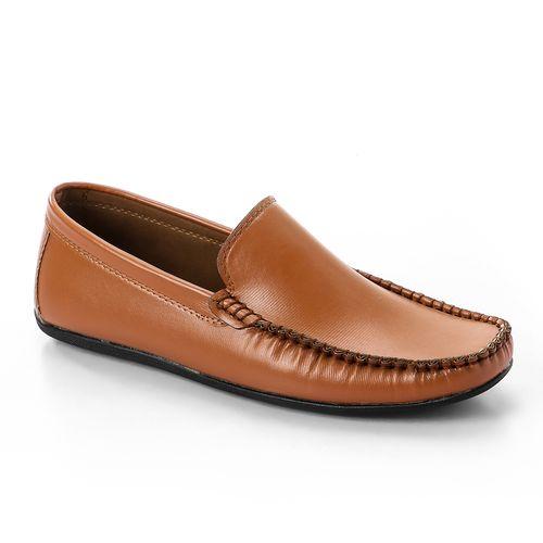 Stitched Slip On Loafers - Havana