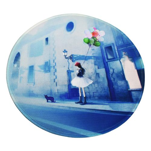 Little Girl Printed Round Non Slip Rubber Mouse Pad