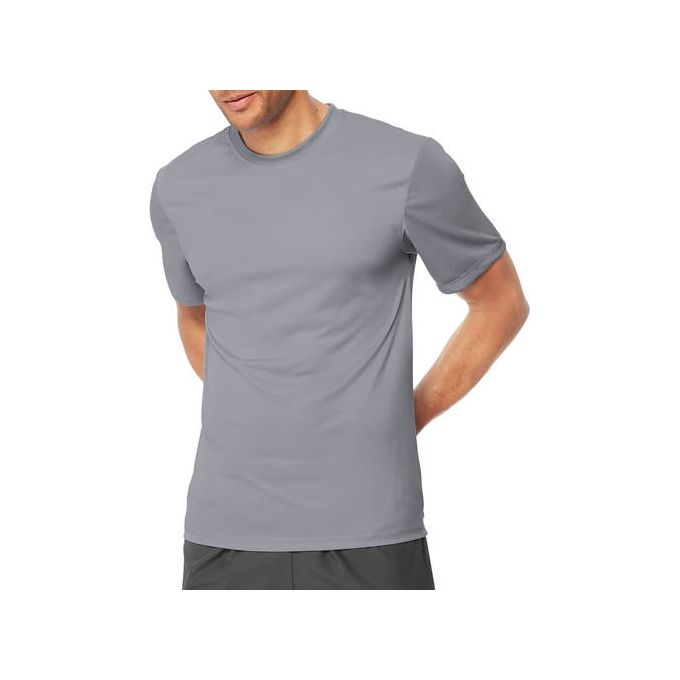 Hanes Sport Mens Heathered Performance T-Shirt [Graphite, Small]
